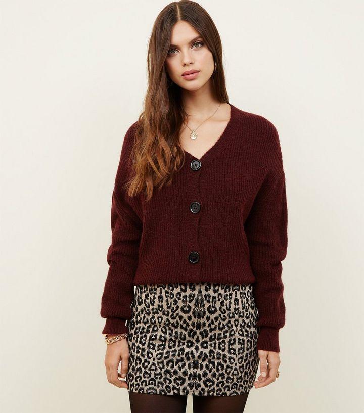 e1d6400828 Brown Leopard Print Tube Skirt   New Look