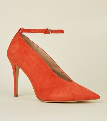 Orange Premium Suede V Front Courts