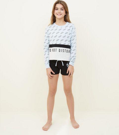... Girls Black Do Not Disturb Pyjama Set ... aeaf798f3