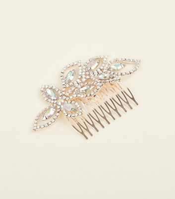 Rose Gold Premium Gem and Diamanté Hair Comb
