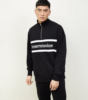 Black Intermission 1/2 Zip Funnel Sweatshirt