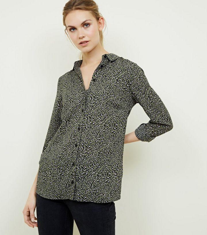 aa881438f418 Green Leopard Print Shirt | New Look