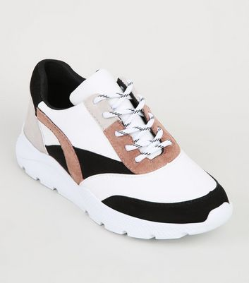 Girls Black Colour Block Chunky Trainers