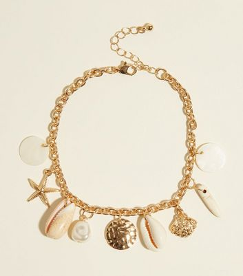 Gold Seashell Anklet