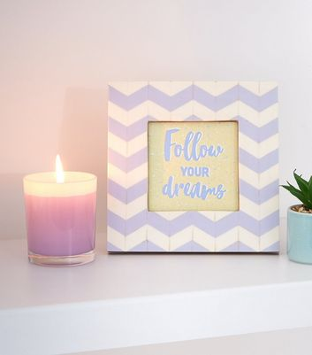 Lilac Dreams Slogan Zig Zag Photo Frame