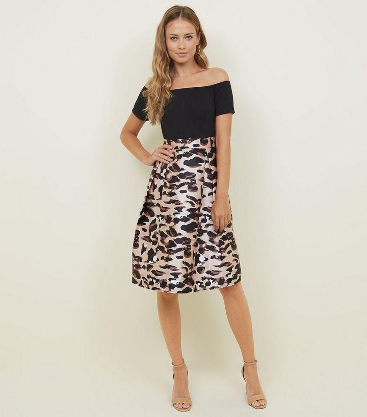 a4c408d5adfb ... AX Paris Black 2-In-1 Leopard Print Midi Dress. ×. ×. ×. Shop the look
