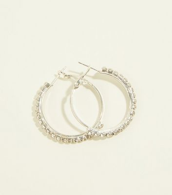 RE:BORN Silver Huggie Hoop Earrings