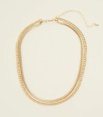 Re-Born Gold Contrast Chain Necklace