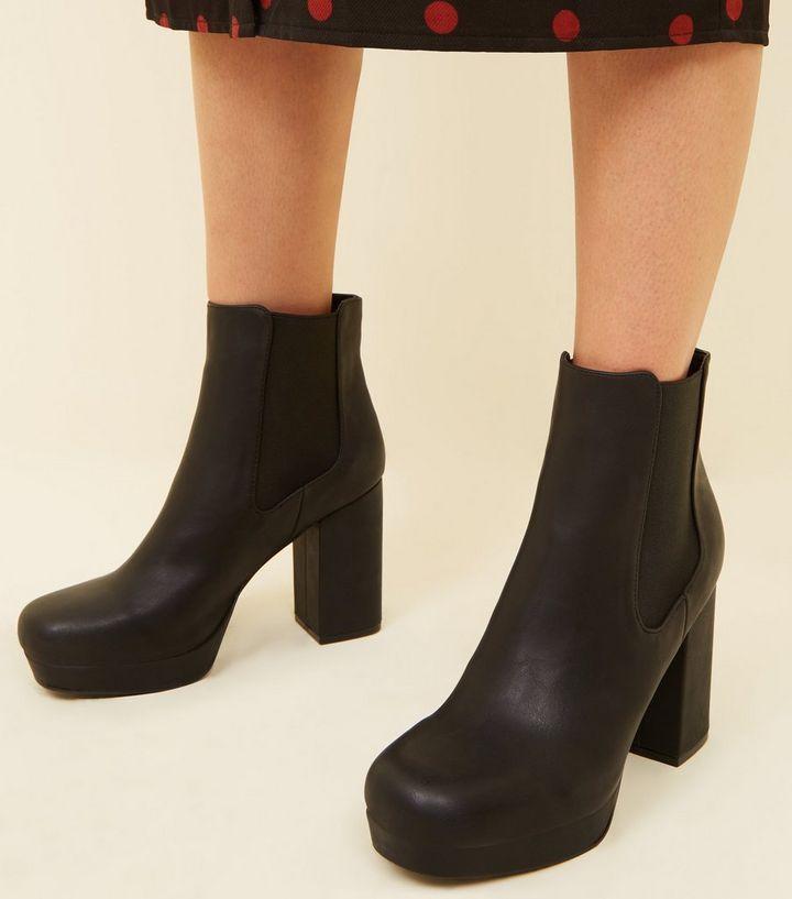8a43c125579b ... Black Square Toe Platform Chelsea Boots. ×. ×. ×. Shop the look