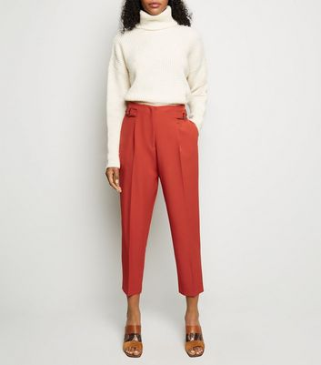 Rust D-Ring Side Tapered Trousers