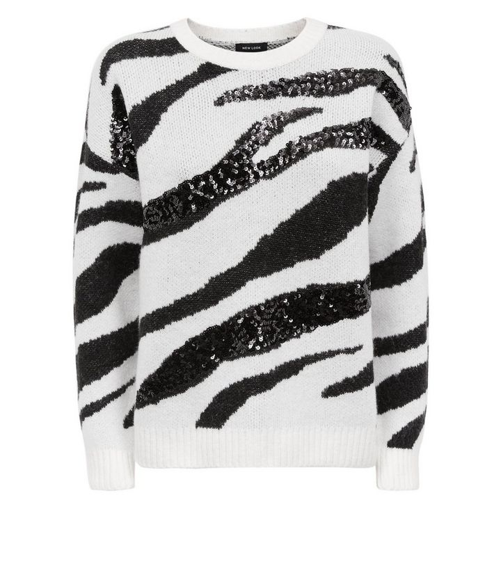 8b5ada4c7f3 ... White Sequin Zebra Stripe Jumper. ×. ×. ×. Shop the look