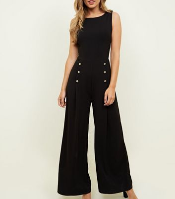 Mela Military Inspired Button Jumpsuit