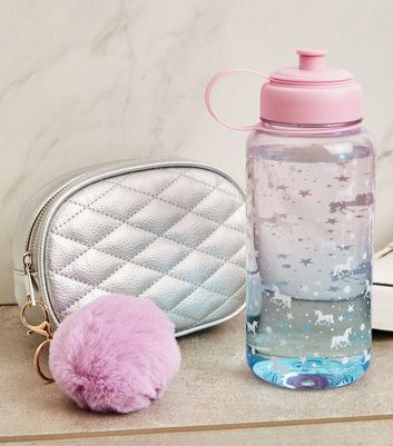 Pink Ombré Unicorn Print 1 Litre Water Bottle