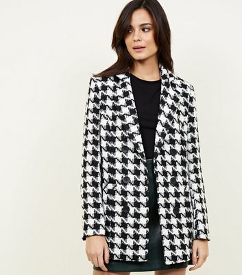Black Houndstooth Check Jacket