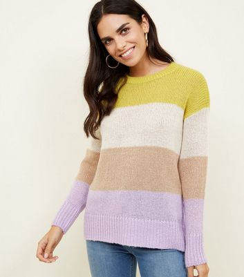 Multicoloured Colour Block Knit Jumper