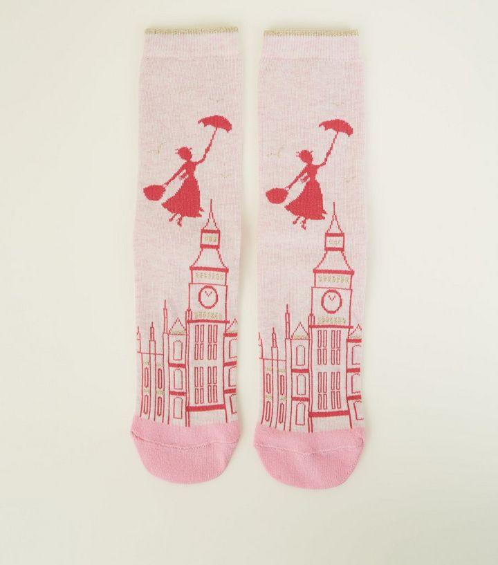 9595db4f688 Pink Disney Mary Poppins Socks