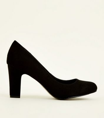 Wide Fit Black Round Toe Courts by New Look