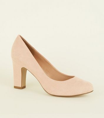 Wide Fit Nude Round Toe Courts