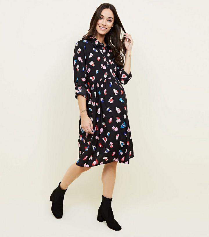 d2fc9d70222f ... Maternity Black Animal Print Shirt Dress. ×. ×. ×. Shop the look