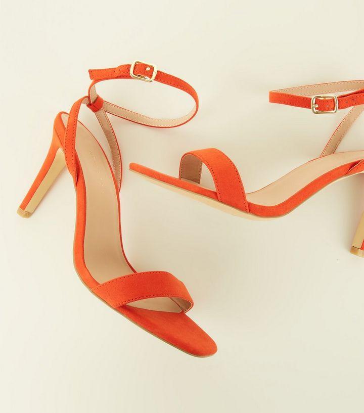 9b8e9d59c4b8d2 ... Wide Fit Bright Orange Stiletto Sandals. ×. ×. ×. Shop the look
