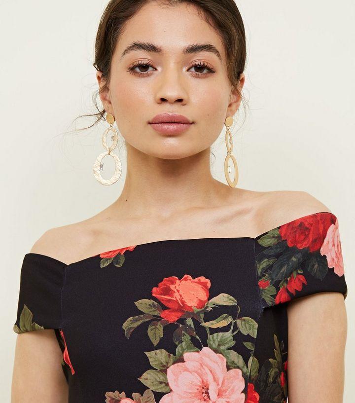 de89bcf7e7 ... Petite Black Floral Skater Dress. ×. ×. ×. Shop the look