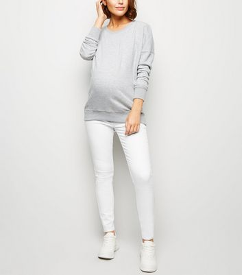 Maternity White Over Bump Jeggings