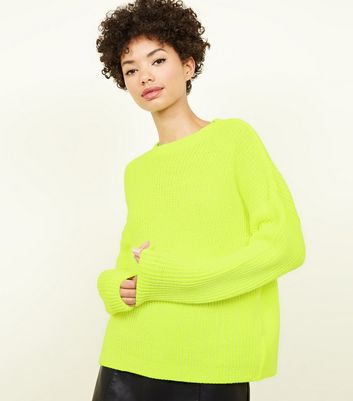 Yellow Neon Slouchy Jumper