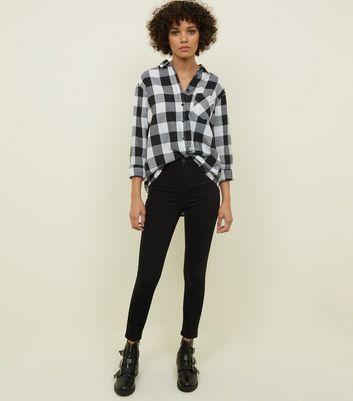 Black Gingham Check Shirt