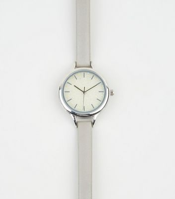 Grey Iridescent Glitter Analogue Watch