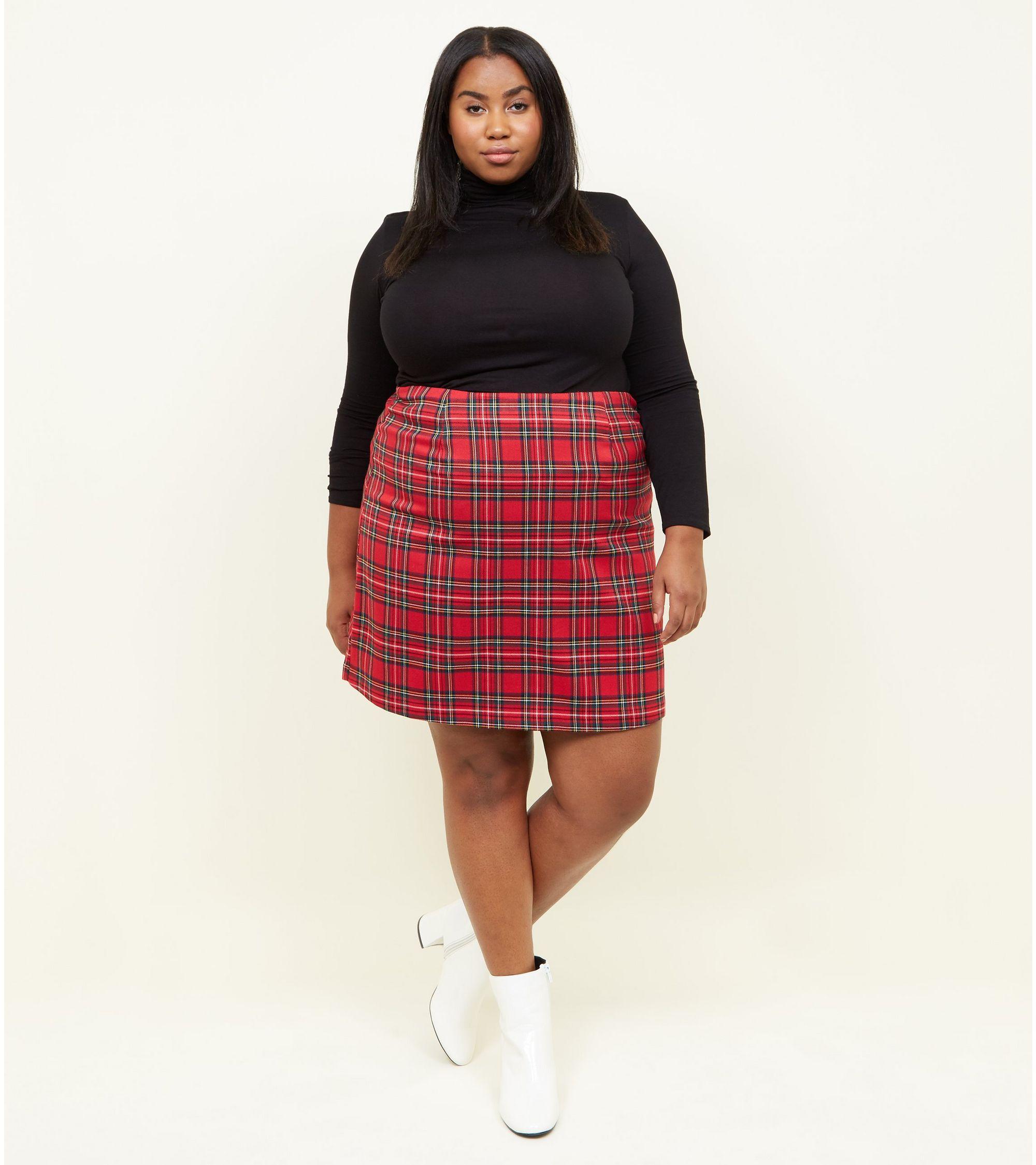 e5424f174 New Look curves tartan a-line mini skirt at £8 | love the brands
