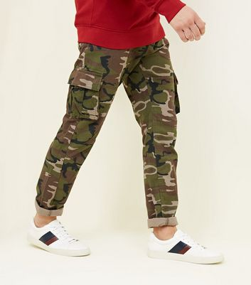 Green Camo Cargo Trousers