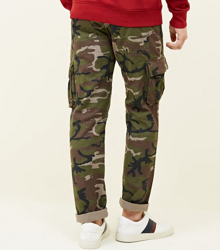 buy sale better price for most desirable fashion Green Camo Cargo Trousers Add to Saved Items Remove from Saved Items