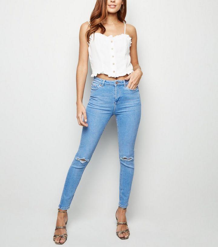 725ad07296b Blue Light Wash High Waist Skinny Hallie Jeans | New Look