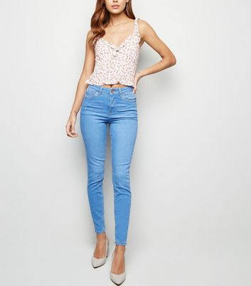 Bright Blue 'Lift & Shape' Skinny Jeans
