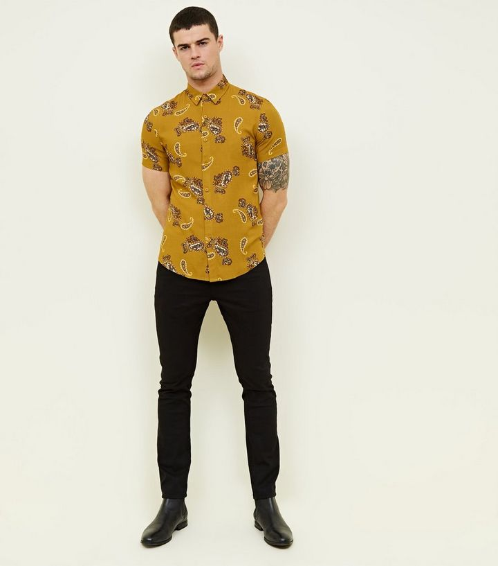 9200af83738 ... Mustard Paisley Print Short Sleeve Shirt. ×. ×. ×. Shop the look