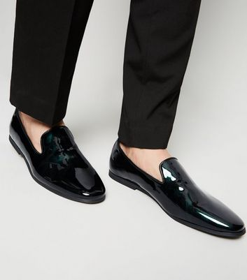 Dark Green Iridescent Patent Loafers