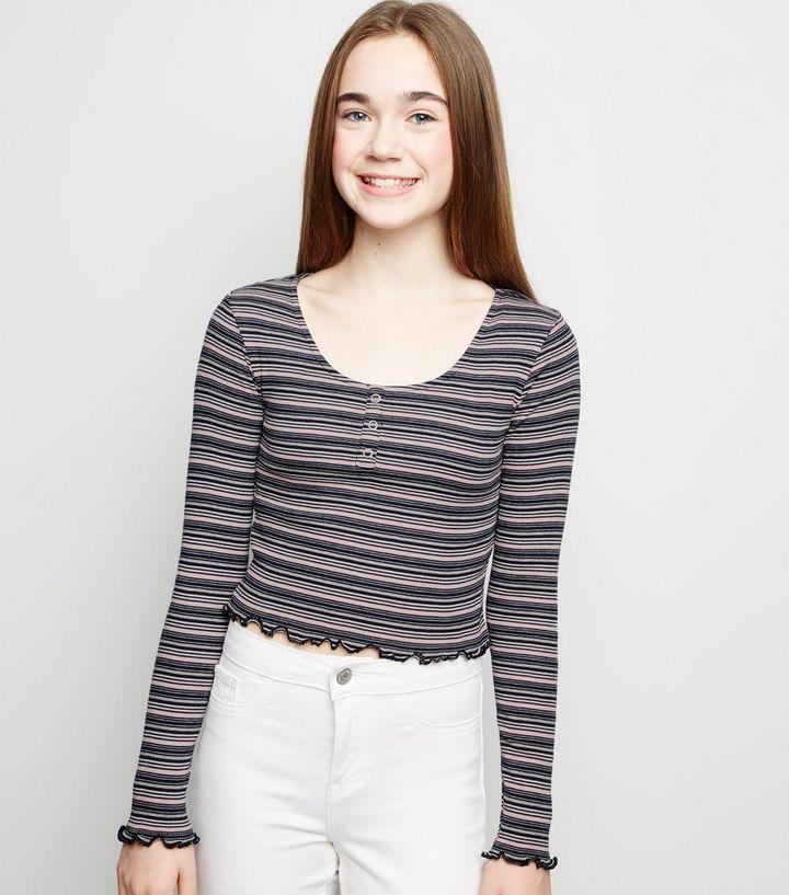 926084ee094cf9 Girls Pink Stripe Long Sleeve T-Shirt | New Look
