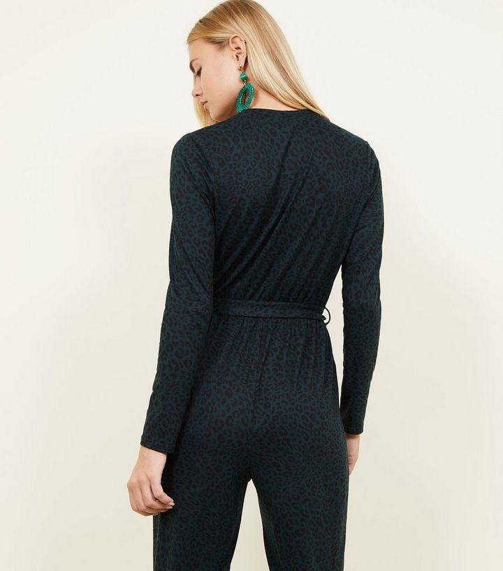 7c34771f11 ... Dark Green Leopard Print Wrap Front Jumpsuit. ×. ×. ×. Shop the look