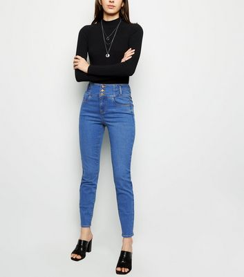 Bright Blue High Waist Skinny Jazmin Jeans