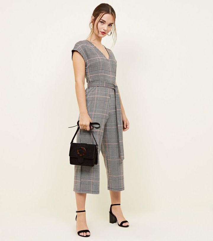 new items latest selection of 2019 official sale Petite Light Grey Check Jersey Jumpsuit Add to Saved Items Remove from  Saved Items