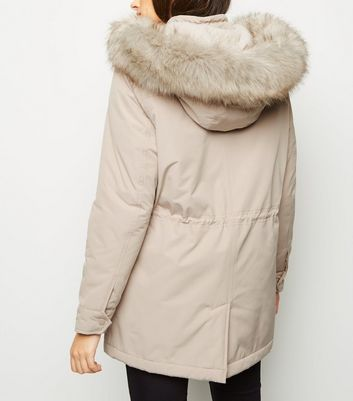 Stone Faux Shearling Lined Utility Parka Add to Saved Items Remove from Saved Items