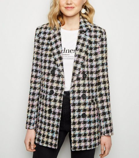 1a35edf21d1 Black Check Bouclé Jacket · Black Check Bouclé Jacket ...