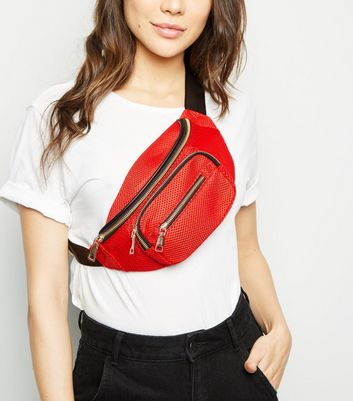 Red Mesh Bum Bag