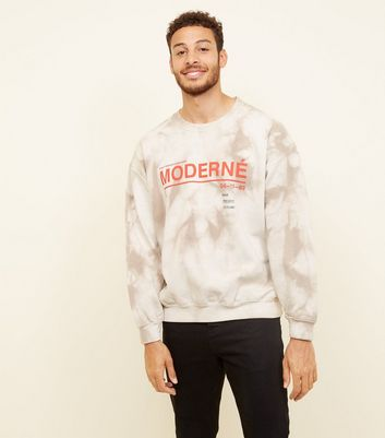 Stone Acid Wash Moderné Slogan Sweatshirt