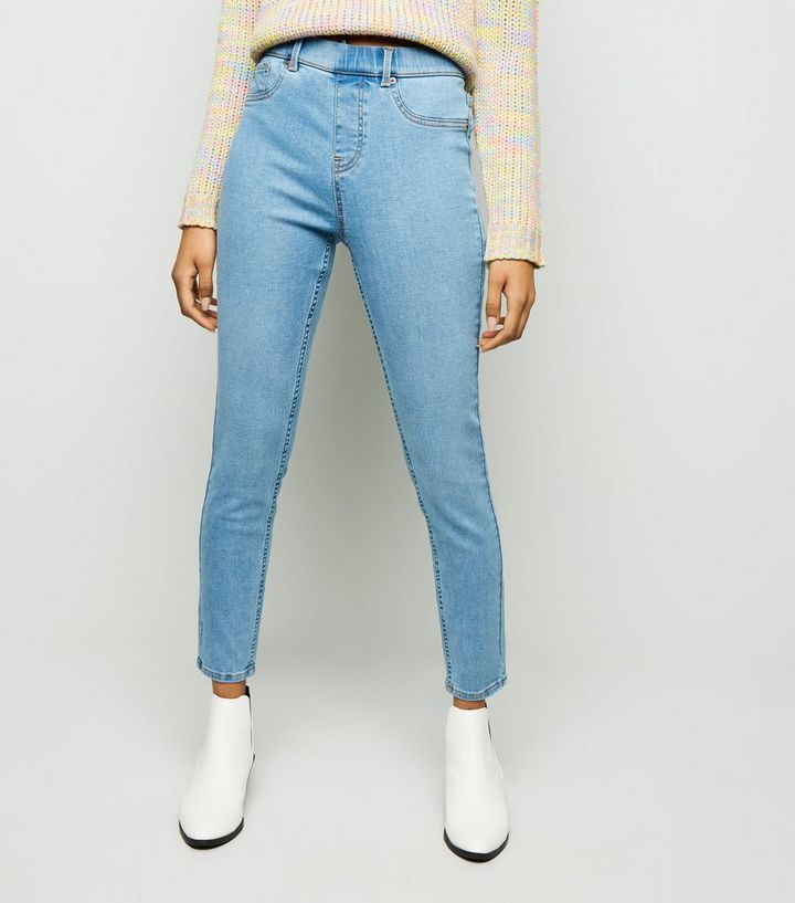6ccd424ab370dd ... Petite Pale Blue Bleach Washed Emilee Jeggings. ×. ×. ×. Shop the look
