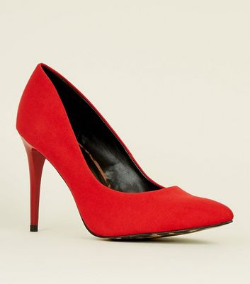 Red Suedette Leopard Print Sole Court Shoes