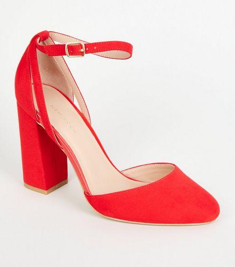 314f4b46c29f9e Talons rouges | Chaussures rouge bordeaux | New Look