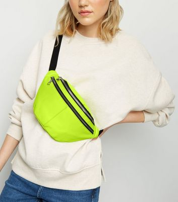 Bright Yellow Neon Satin Bumbag