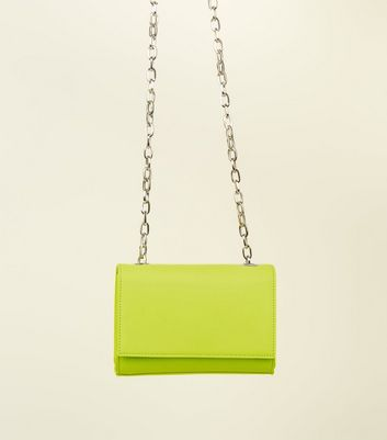 Yellow Neon Cross Body Bag