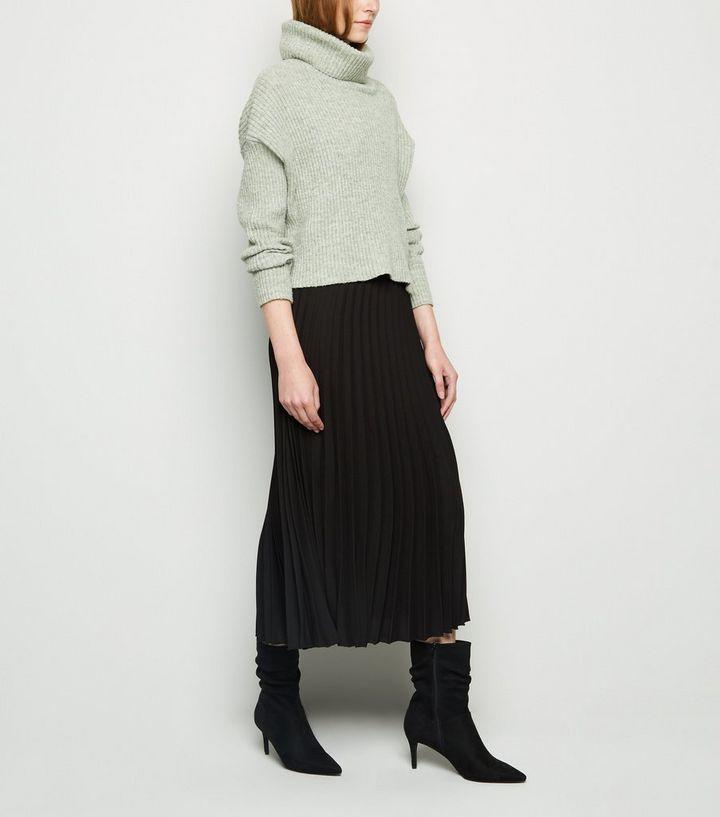 7e3f32936e Black Pleated Midi Skirt | New Look